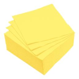 set 40 serviettes microgauffrées 2 plis 38x38cm - 17gr/m3 - jaune