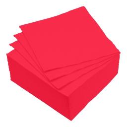 set 40 serviettes microgauffrées 2 plis 38x38cm - 17gr/m3 - rouge
