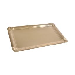 set 5 plateaux rectangles en carton - or - 475grs/m²