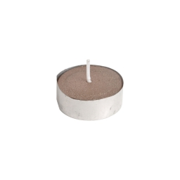 set de 24 set de 6 bougies t-light--finition metallisee-chocolat-d3.7cm