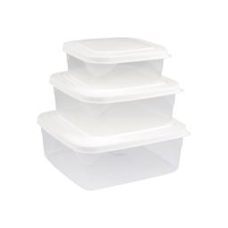 set de 3 boites micro carre - 19.5*19.5*8cm - blanc