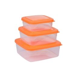 Set de 3 boites micro carre 19.5 x 19.5 x 8 cm Mangue