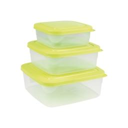 Set de 3 boites micro carre 19.5 x 19.5 x 8 cm Vert