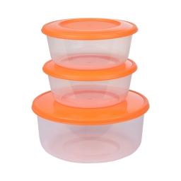 set de 3 boites micro ronde - ø19*h9cm - mangue