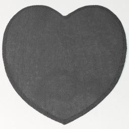 Set de table (0) 38 cm fibre papier coeur Anthracite