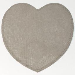 Set de table (0) 38 cm fibre papier coeur Lin