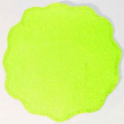 Set de table (0) 38 cm fibre papier fleur Anis