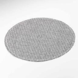 Set de table (0) 38 cm fibre papier metrix Noir