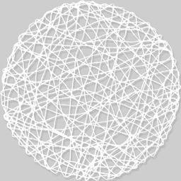 Set de table (0) 38 cm fibre papier scouby Blanc