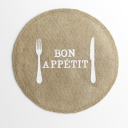 set de table (0) 38 cm jute imprime appetito