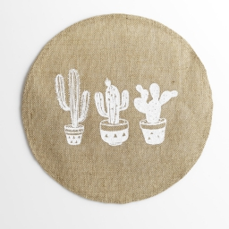 set de table (0) 38 cm jute imprime mexico