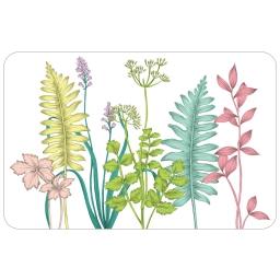 set de table 28.5 x 43.5 cm pvc imprime 50/100e fresh garden
