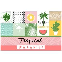 set de table 28.5 x 43.5 cm pvc imprime sweet paradise