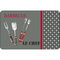 set de table 28.5 x 44 cm polypropylene opaque bbq