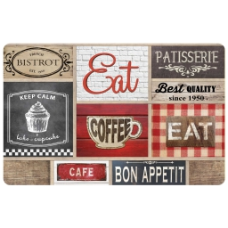 set de table 28.5 x 44 cm polypropylene opaque coffee shop