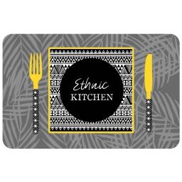 set de table 28.5 x 44 cm polypropylene opaque ethnic kitchen