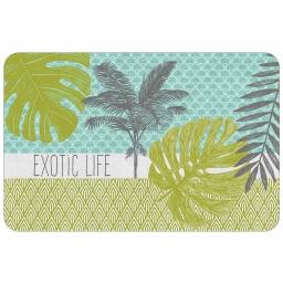 set de table 28.5 x 44 cm polypropylene opaque exotic palm