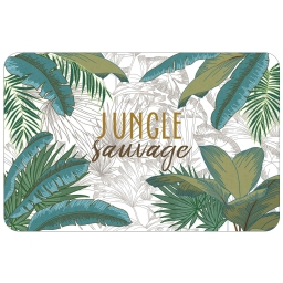 set de table 28.5 x 44 cm polypropylene opaque jungle sauvage