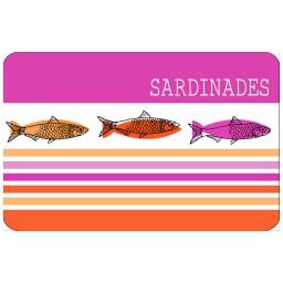 Set de table 28.5 x 44 cm polypropylene opaque sardinades Rose