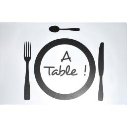 set de table 28.5 x 44 cm polypropylene transparent a table