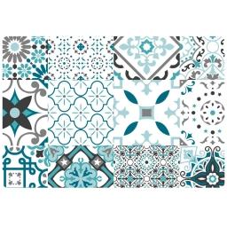 Set de table 30 x 44 cm pvc imprime taormina Bleu
