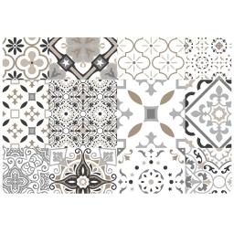 Set de table 30 x 44 cm pvc imprime taormina Gris