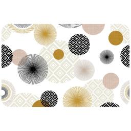 Set de table 30 x 44 cm pvc imprime zoya Noir