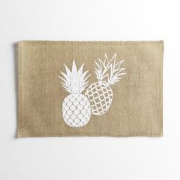 set de table 30 x 45 cm jute imprime ananas spirit