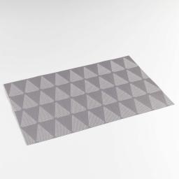 Set de table 30 x 45 cm pvc bicolore takea Gris
