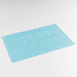 Set de table 30 x 45 cm pvc bicolore trigone Bleu