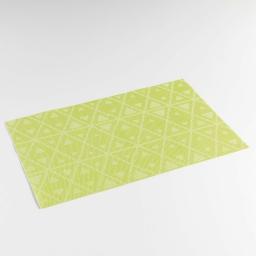Set de table 30 x 45 cm pvc bicolore trigone Vert