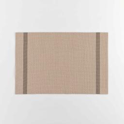 Set de table 30 x 45 cm pvc+fils metallises goldira Taupe/or
