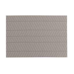 Set de table 30 x 45 cm pvc lizia Taupe/blanc