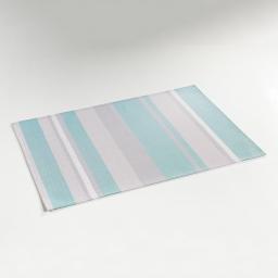 Set de table 32 x 47 cm pvc silky Raye bleu