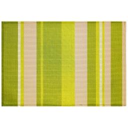 Set de table 32 x 47 cm pvc silky Raye vert