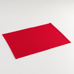 Set de table 33 x 45 cm coton uni chatouille Rouge