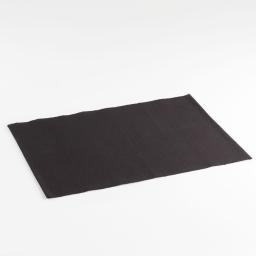 Set de table 33x45 coton uni brunch Noir
