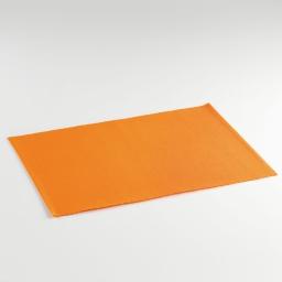 Set de table 33x45 coton uni tomato Orange