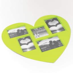 Set de table photos coeurs 45 x 41 cm polypropylene souvenirs Vert