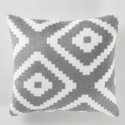 So coussin 40 x 40 cm flanelle origami Gris