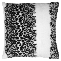 so coussin 40 x 40 cm imitation fourrure panthere
