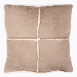 So coussin 40 x 40 cm suede/sherpa inuit Sable