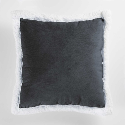 So coussin 40 x 40 cm velours/sherpa artic Anthracite