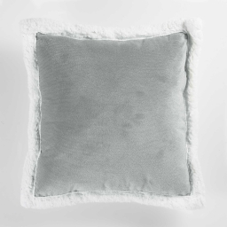 So coussin 40 x 40 cm velours/sherpa artic Gris