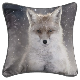 so coussin passepoil 40 x 40 cm fils coupes imprime foxy