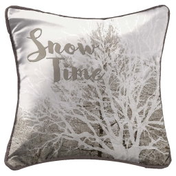 so coussin passepoil 40 x 40 cm fils coupes imprime snow time