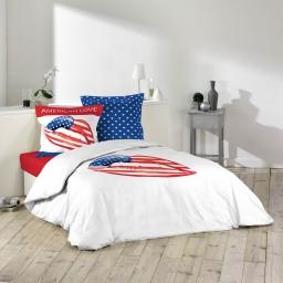 so parure 3 p. 200 x 200 cm imprime 42 fils dessin place american love