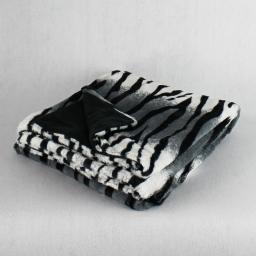 so plaid 125 x 150 cm imitation fourrure zebroo