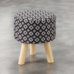 So tabouret (0) 32 cm x ht 36 cm fils coupes imprime graphic home Noir