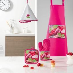 Sop tablier 60x80 avec poche macaron color Rose